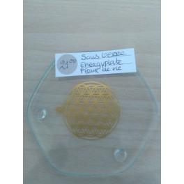 Energieplaat van glas met fleur de vie